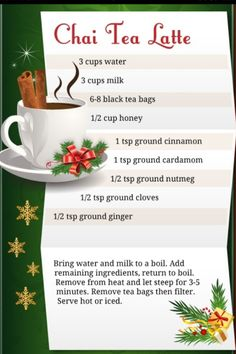 Starbucks Chai Tea Latte Recipe