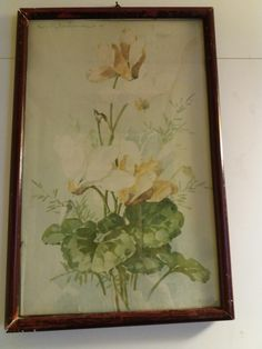Finnish painter, Framed By Ivar Bremer Tampere. Fleas, Watercolour Painting, 1930s, Retro, Frame, Vintage, Home Decor, Art, Picture Frame