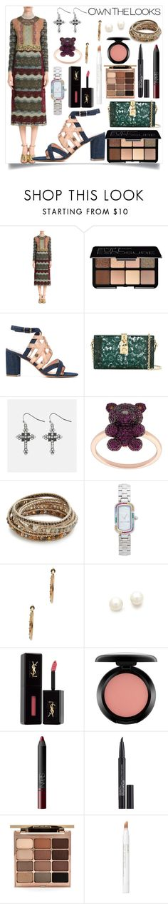 """""""Lace Dress with Silk"""" by camry-brynn ❤ liked on Polyvore featuring Valentino, Smashbox, Jean-Michel Cazabat, Dolce&Gabbana, Avenue, Khai Khai, Chan Luu, Marc Jacobs, Kenneth Jay Lane and Yves Saint Laurent"""