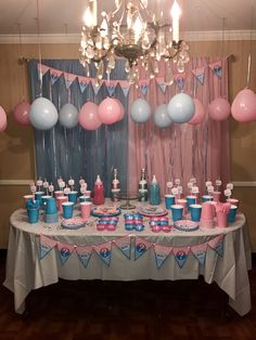 Diy Centerpieces For Gender Reveal Party Gender Reveal Party Ideas