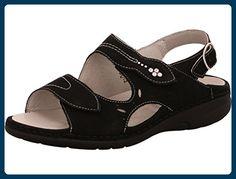 WALDLÄUFER Gunna Größe 6 schwarz - Sandalen für frauen (*Partner-Link)
