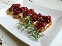 Cranberry Bruschetta - A Healthy Passion