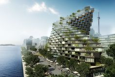 A twisted building full of terraces has been proposed. Architecture firm ODA New York, have designed a proposal for a waterfront building in Toronto, Canada, as part of the ongoing Bayside development. Magazine Architecture, Architecture Magazines, Green Architecture, Innovative Architecture, Architecture Design, Layered Architecture, Architecture Company, Architect Magazine, Commercial Architecture