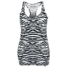 Ladies Zebra Racerback Tank - Black Premium by EMP