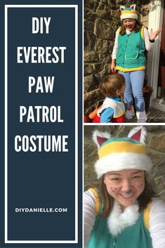 How to make an easy Everest Paw Patrol costume. This adult Paw Patrol costume could easily be adjusted to make a children's costume too! #halloweencostume #diycostume #halloween Family Halloween Costumes, Diy Costumes, Adult Costumes, Halloween Kids, Costume Ideas, Paw Patrol Halloween Costume, Paw Patrol Costume, Dress Up Day, Kids Dress Up