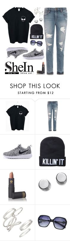 """Sin título #837"" by ayeloves1d ❤ liked on Polyvore featuring Joe's Jeans, Lipstick Queen, Botkier and BP."