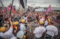 June 25, 2015. The prize giving following the Inmarsat In-Port Race Gothenburg