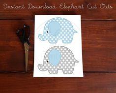 Printable Elephant Decorations Elephant Baby Shower | Etsy Elephant Cut Out, Elephant Party, Elephant Birthday, Baby Elephant, Japanese Patchwork, Baby Shower Decorations, Elephant Decorations, Banner, Diy Cushion