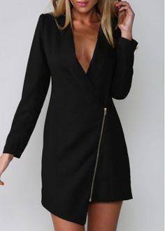 http://www.anrdoezrs.net/click-7653399-12002723   What a look    Fashion Style Long Sleeve Turndown Collar Black Coat