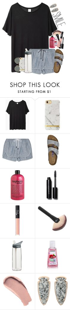 """""""just finished my essay and hit 200!!!!!"""" by sophie-dye ❤ liked on Polyvore featuring Base Range, rag & bone, Birkenstock, philosophy, Bobbi Brown Cosmetics, NARS Cosmetics, CamelBak, Burberry, Kendra Scott and Ray-Ban"""
