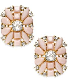 kate spade new york Gold-Tone Floral Stone Stud Earrings