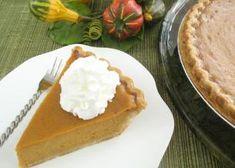 Pumpkin pie with pumpkin spice