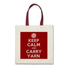 Keep Calm and Carry Yarn Budget Tote Bag