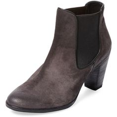 n.d.c. made by hand Stacy Suede Bootie ($189) ❤ liked on Polyvore featuring shoes, boots, ankle booties, brown, suede bootie, brown high heel boots, suede boots, suede ankle boots and suede booties