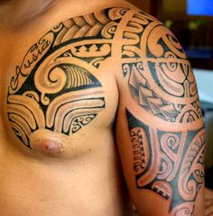 Polynesian Tahitian Tattoo for Men of marquesas Armor