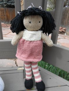 Knitted Rag Doll by LavenderLassies on Etsy