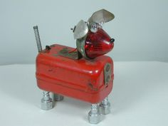 found objects robots   Sculpture From Found Objects   ROBOPET Found Object Robot Dog ...