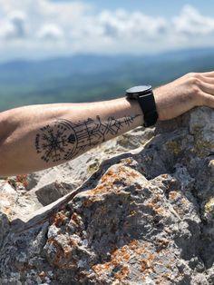 Tribal Arm Tattoos, Forarm Tattoos, Dope Tattoos, Body Art Tattoos, Hand Tattoos, Tatoos, Viking Tattoo Sleeve, Viking Tattoo Symbol, Norse Tattoo