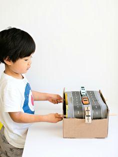 DIY Cardboard Car Conveyor Belt via Hello, Wonderful