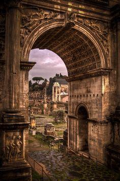 Arch of Septimius Severus - Roman Forum, Rome, Italy #worldtraveler