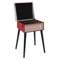 Manhattan - Tourne-disque USB sur pied rouge d04d4ef3a0