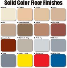 Garage Floor Paint Colors
