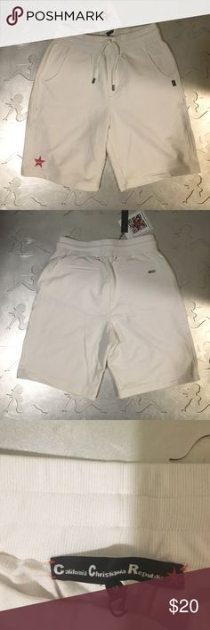 Men's white shorts Men's white shorts. With pockets. New without tags. california christiana republic Shorts Athletic