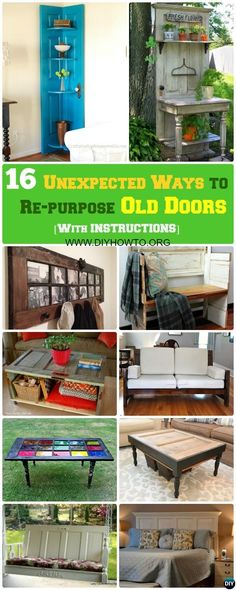 Unexpected Ways to Repurpose Old Doors Into New #Furniture #Repurpose via @diyhowto