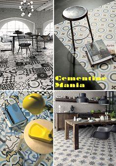 Cementine Mania: le conoscete? sono le mattonelle vintage con disegni geometrici o floreali dai colori pastello, sono tornate alla ribalta e sono bellissime!