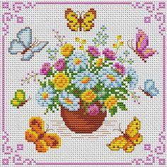 Spring hama beads project chart by Cross Stitchers Club
