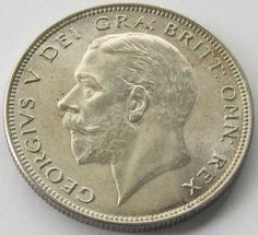 Great Britain, Large Silver Coin, 1/2 Crown 1936, George V, UNC !