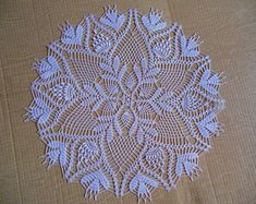 Round Crochet bag Etsy :: Your place to buy and sell all things handmade Crochet Dollies, Crochet Lace Edging, Crochet Doily Patterns, Filet Crochet, Crochet Flowers, Crochet Stitches, Crochet Hats, Crochet Dresses, Crochet Wall Art