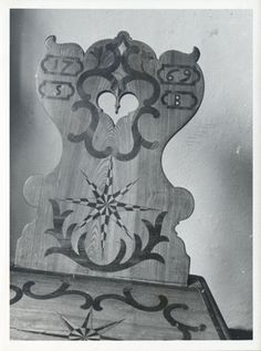 Marienwerder, Museum, Intarsien-Stuhl