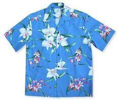 Surprise Blue Hawaiian Cotton Shirt  #hawaiian #madeinhawaii