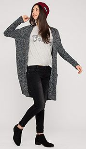 Sklep internetowy C&A | Sweter rozpinany - kolor: szary / czarny