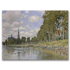 Claude Monet 'Zaandam 1871' Canvas Art | Overstock.com