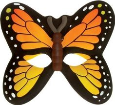 Orange Butterfly Mask (Foam) by Wild Republic. $2.69. One size fits all kids.. Elastic band gently holds mask on child.. Safe EVA material. This mask is made of soft, safe EVA material. Elastic band gently holds mask on child.  One size fits all kids.