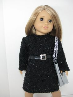 18 inch Doll Clothes American Girl Black Sweater by nayasdesigns, $28.00