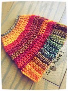 Messy Bun Hat Free Crochet Pattern from Karla's Making It - Karla Twomey