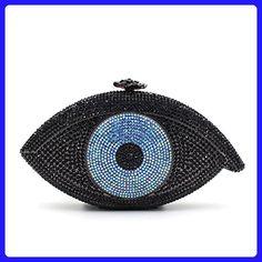 Clutch Purses Black for Women Luxury Rhinestone Eyes Crystal Evening Clutch Bags Vintage Party (Black) - Evening bags (*Amazon Partner-Link)