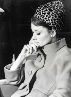 Audrey Hepburn during the filming of Stanley Donen's Charade (1963).