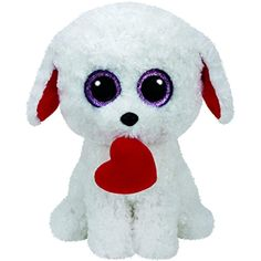 4d913d305f2 Ty Honey Bun Dog with Heart Plush