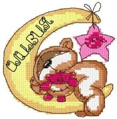 Teddy sleeping time free embroidery design. Machine embroidery design. www.embroideres.com