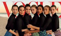 """مجلة """"فوغ"""" تزيل صورة هيلاري كلينتون من…: كشفت مصادر مطّلعة أن مجلة """"فوغ"""" قررت وضع جيجي حديد وكيندال جينر، جنبًا إلى جنب مع عارضة الأزياء…"""