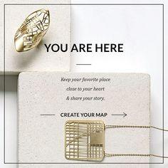 Design personalizzato, anello di mappa, mappa collana, collana personale, dono personale, dichiarazione anello, gioielli dichiarazione, ordine personalizzato, uno di un regalo di tipo