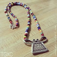 Beaded Fine Silver Woven Soul Lock Necklace via TGXC. Click on the image to see more!