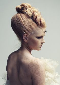Braided beehive up-do| This look belongs in a fantasy princess setting!