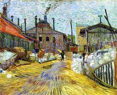 """Vincent van Gogh """"A factory at Asnières"""" 1887 46.5 x 54 cm Oil on canvas"""