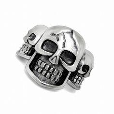 Punk Biker Heavy skull sale 316L stainless steel ring vintage men jewelry wholesale Fast shipping STR-Y601159