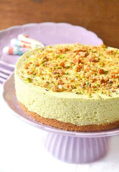 Cheesecake al pistacchio con meringa e ricotta...un amore senza fine!!! | dolci a go go!!! | Bloglovin'